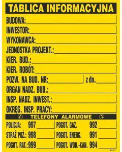 Tablica informacyjna budowy Z-TB1