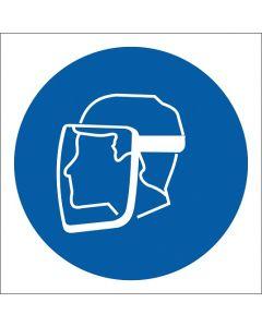 """Znak BHP """"Nakaz stosowania ochrony twarzy"""" ZZ-8N"""
